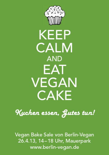 Vegan Bake Sale Flyer