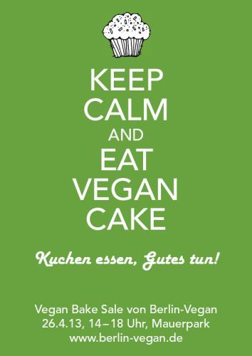 Vegan Bake Sale Flyer
