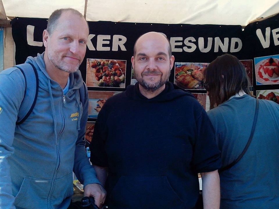 Woody Harrelson am BV-Stand