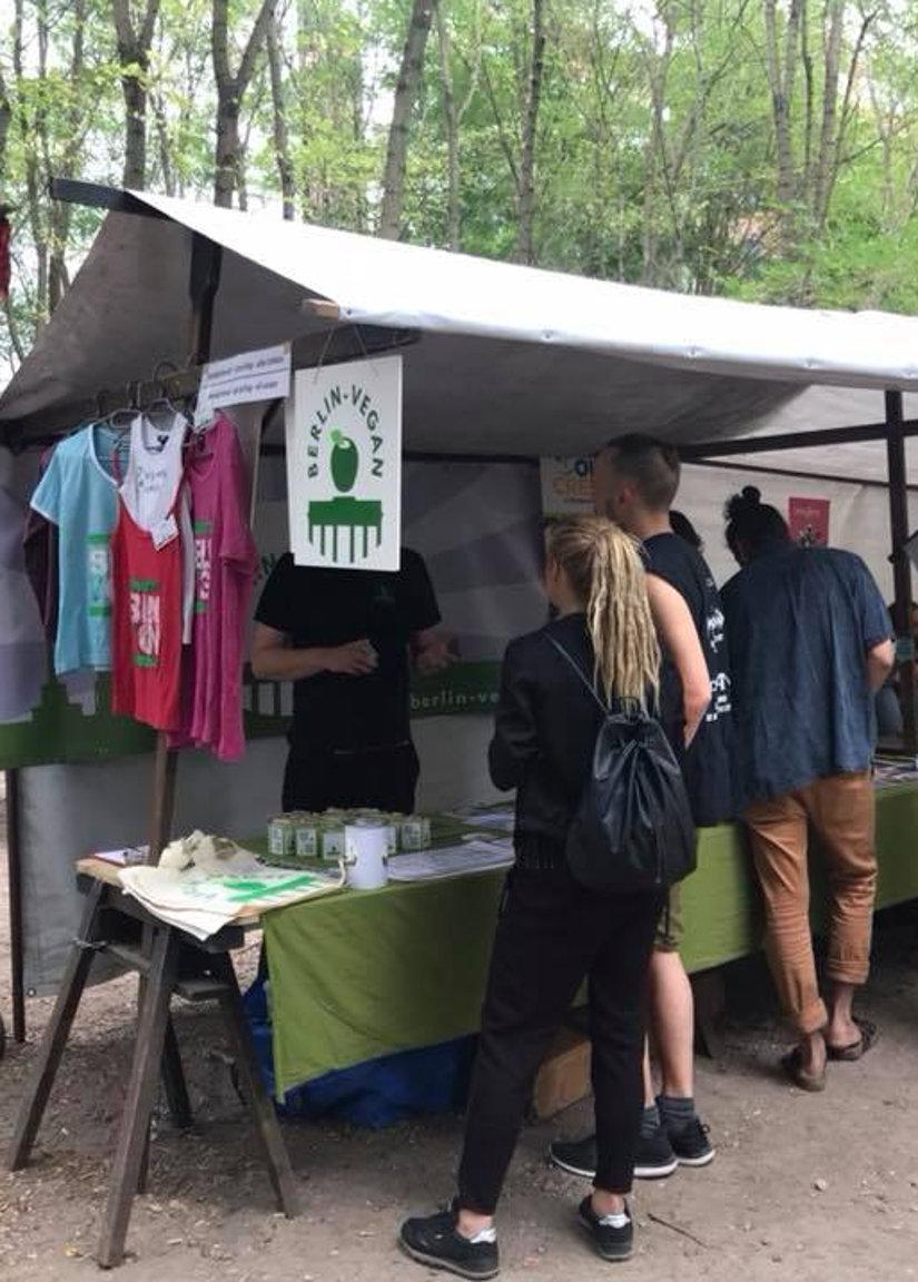 Berlin-Vegan-Stand bei der Wandelwoche